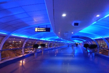 Inside airport